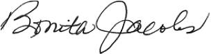 Bonita Jocobs signature block