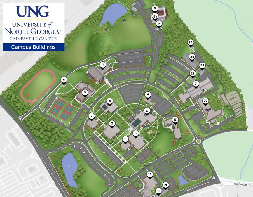 Map Of Georgia Universities.Directions Maps Gainesville Campus