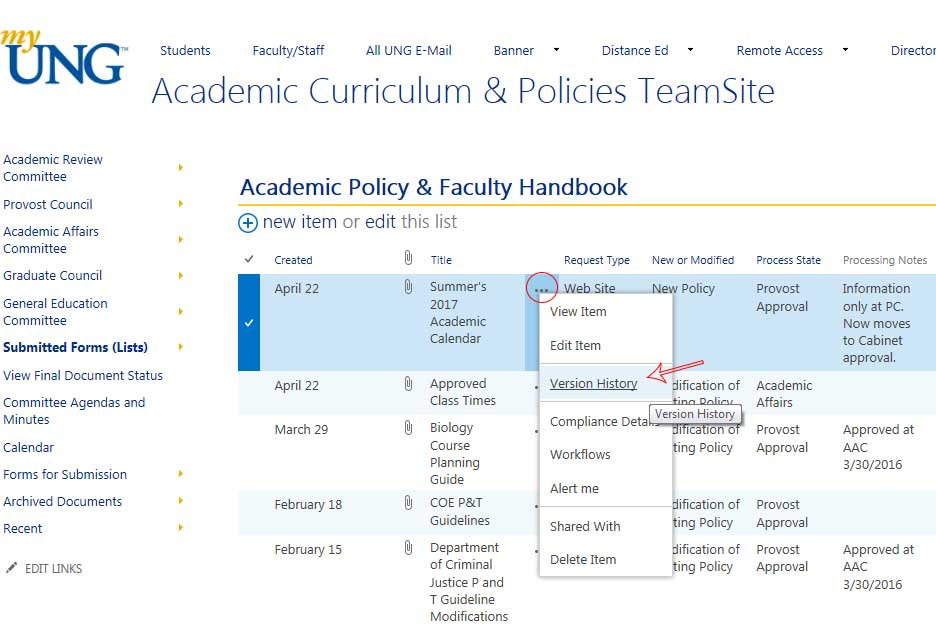index. policies academic affairs policy manual leaves