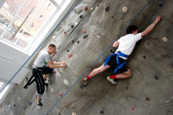 Dahlonega's recreation center wall climb