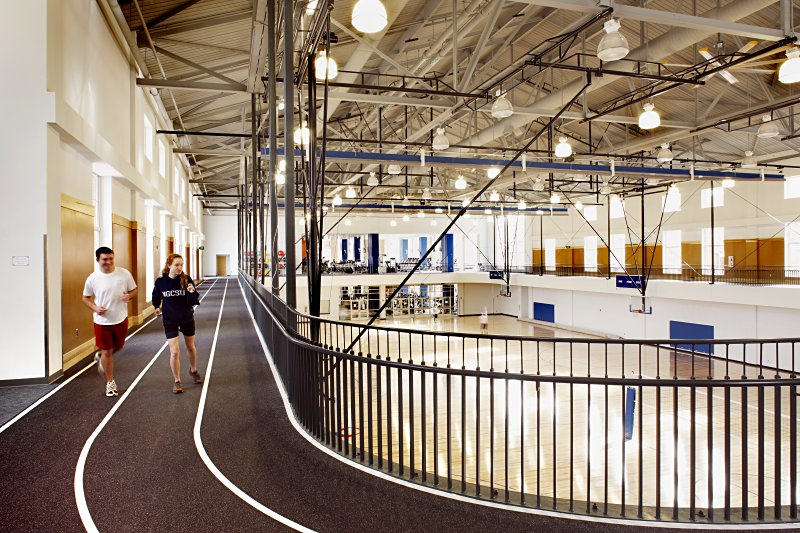 Dahlonega's recreation center fitness track
