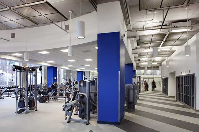 Recreation Center interior - exercise machines - Dahlonega campus