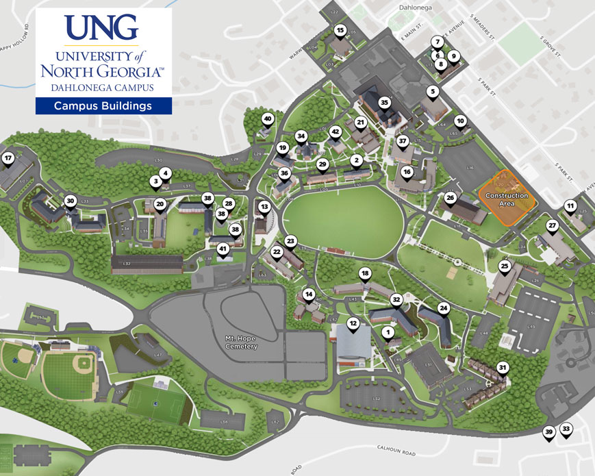 Athens Campus Map.Directions Maps Dahlonega Campus
