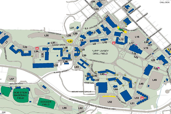 Directions Maps Dahlonega Campus - Georgia map directions