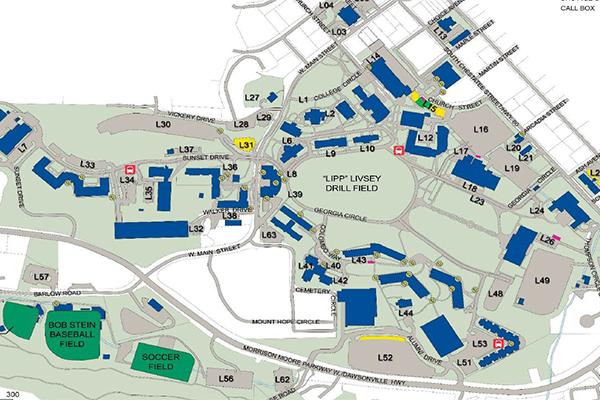 Directions maps dahlonega campus dahlonega parking map sciox Images