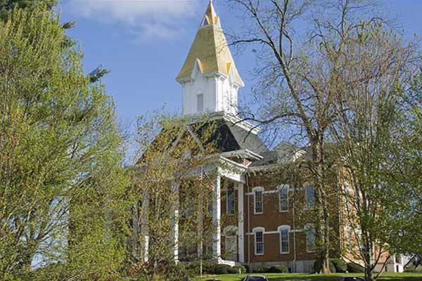 Price Memorial Gold Steeple on the Dahlonega Campus