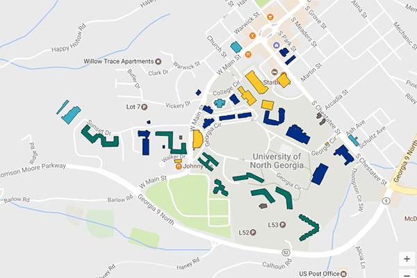 Campus Map Georgia Tech.Map Of North Georgia University Campus