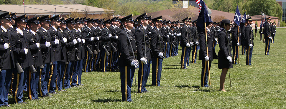 Corps of Cadets on Drill Field