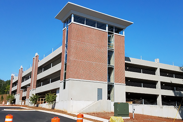 The new South Deck on the Dahlonega Campus adds 526 parking spaces for students, faculty and staff.