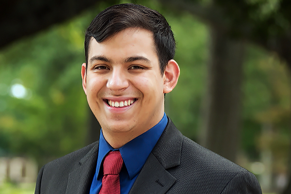 Jose Del Rio Lopez, a senior majoring in business management, is set to attend the Dow Diamond Symposium later this month.