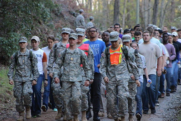 ung corp of cadets prepare for semiannual leadership challenge