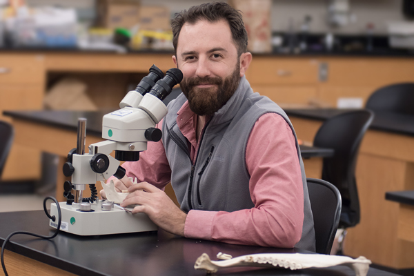 Dr. David Patterson (pictured) is the co-principal investigator on a project that will enable him and students to travel to Africa to study the diets of savanna baboons.