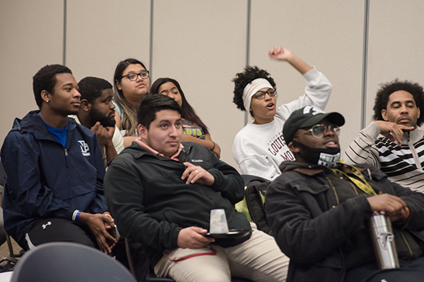 Students attend one of the many black history presentations and events hosted on UNG campuses during Black History Month.