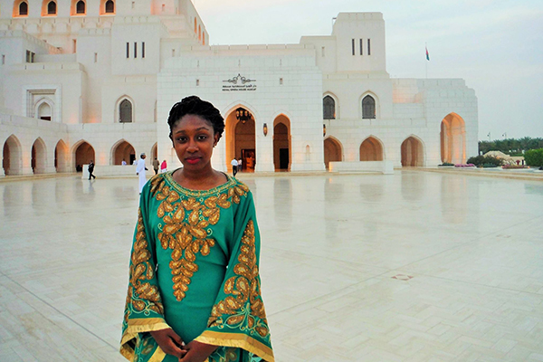 Anita Renfroe during a study abroad trip to Oman in 2015. Renfroe is one of 10 UNG students to be named a semi-finalist for the 2017 Fulbright U.S. Student Program.