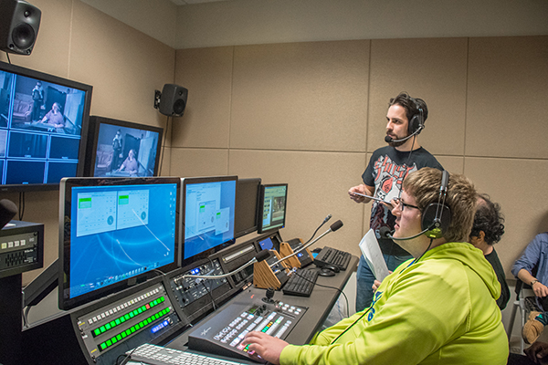 The state of the art studio in UNG's Department of Communications, Media & Journalism gives students the opportunity to learn and work with industry-specific technology.