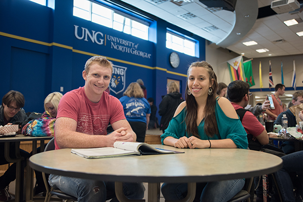Wilson Quinton and Grace Ainsworth are two of seven Move On When Ready students at UNG to have completed the necessary coursework to earn an associate degree before they receive their high school diplomas.