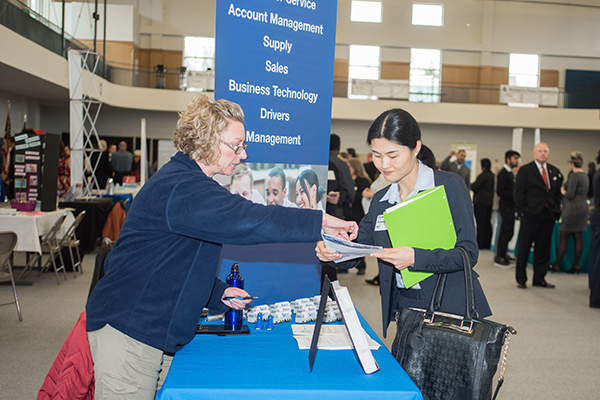 The Career Fair and Job Fair on the Dahlonega and Gainesville campuses offer a unique opportunity for students and alumni to apply for jobs and internships as well as learn more about prospective career paths.