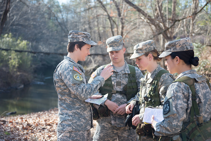 First Female UNG Cadet To Commission Into Infantry Takes