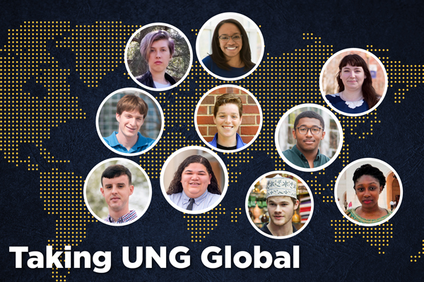 The graphic above shows each Fulbright student next to the countries they selected to travel to.