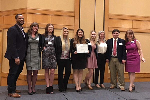 UNG's PRSSA chapter was officially chartered during a PRSA Georgia meeting in Atlanta.
