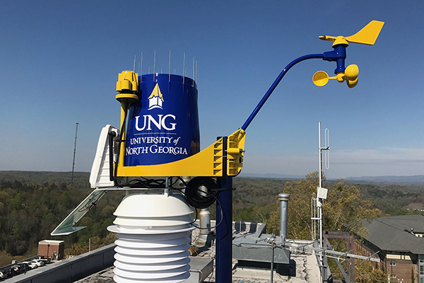 The weather stations installed at UNG will provide important data for environmental science, geography and geographic information systems classes.
