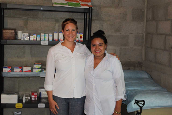 Prof. Vanessa Jones (left) and representatives from other universities gathered in Jinotega, Nicaragua for a health summit geared towards promoting community development, cultural exchange and civic engagement.