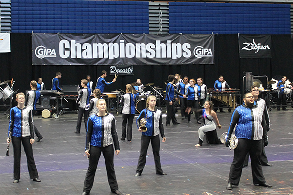 UNG Indoor is a competitive marching arts ensemble consisting of winds, percussion and color guard performers.