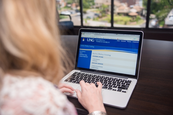 Once complete, UNG's electronic policy database will provide one online location where all UNG policies will be housed.
