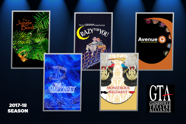 """The Gainesville Theatre Alliance's plays and musicals set to entertain audiences for the 2017-18 will be """"Jungle Book,"""" """"Crazy for You,"""" """"Avenue Q,"""" """"Monstrous Regiment,"""" and """"The Odyssey."""""""