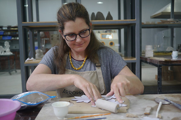 Alexandra Kraft, an assistant professor in the Department of Visual Arts at the University of North Georgia (UNG), created ceramics alongside experts as an artist-in-residence at the Jingdezhen International Studio-Taoxichuan in China.