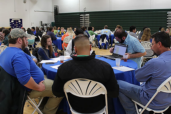 Students at roundtable sessions during the Student Conference on Leadership held Oct. 28 at the Gainesville Campus.