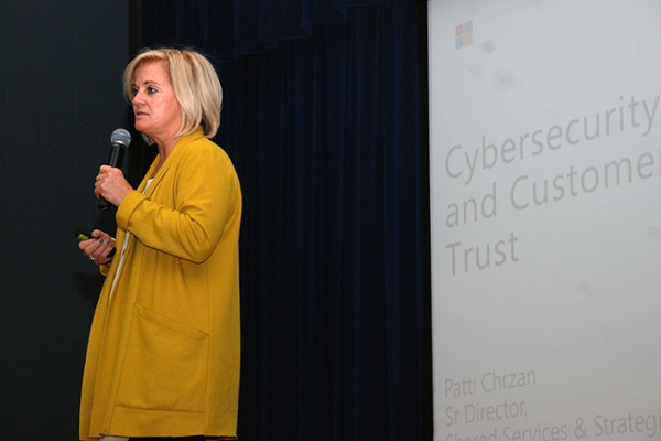 Patti Chrzan, senior director of strategic programs in Microsoft's Digital Crimes Unit, spoke Oct. 19 at UNG.