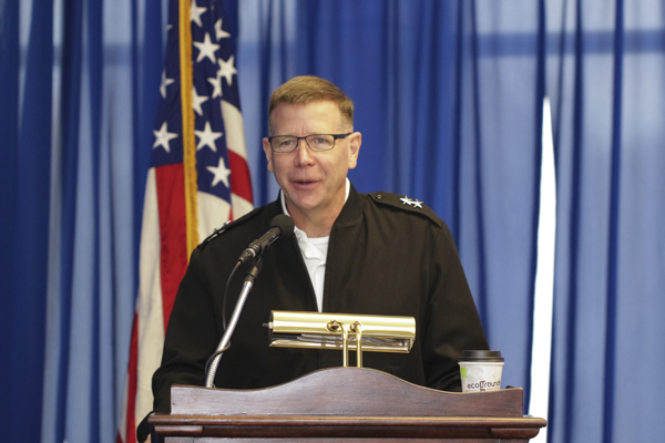 "UNG alumnus Maj. General Stephen Fogarty, chief of staff of the U.S. Cyber Command, was the keynote speaker at the second annual Security Symposium, ""Civil-Military Cooperation and International Collaboration in Cyber Operations"" held Nov. 8-9 on the Dahlonega Campus."