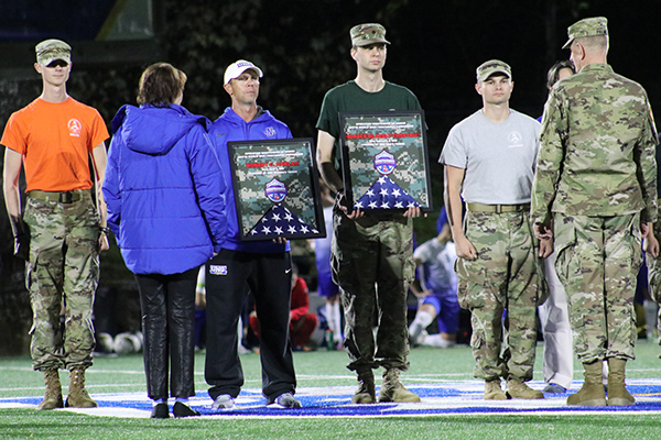The UNG athletic department kicked off the third annual Operation Nighthawks of Honor initiative Oct. 18 to commemorate UNG graduates who served and died during active duty in World War I.