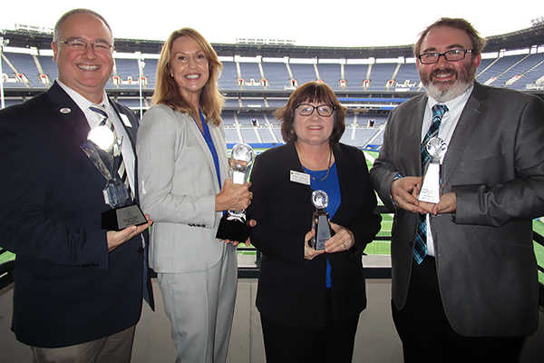Dr. Bryson Payne, Terri Carroll, Katie Simmons and Nick Kastner are UNG's recipients of the University System of Georgia's (USG) Chancellor's Service Excellence Awards.