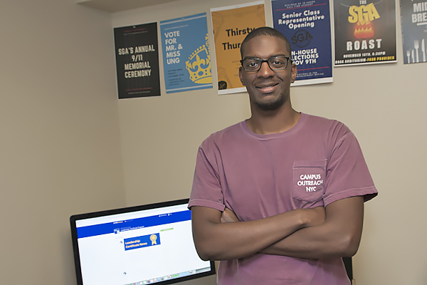 Paul Shorter, a sophomore communications major from Lawrenceville, Georgia, is one of 22 students in the inaugural cohort of the Student Leadership Certificate Program, launched in the fall of 2017.