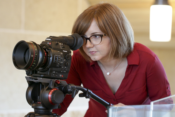"""Allison Hogue, a lecturer of film and digital media at UNG, won a Presidential Incentive Award. She plans to use her $5,000 innovation award to introduce audiences to her vision of a postapocalyptic world. She will shoot a short film, """"Dead Winter,"""" in Gainesville, using film industry professionals and UNG students as crew members."""
