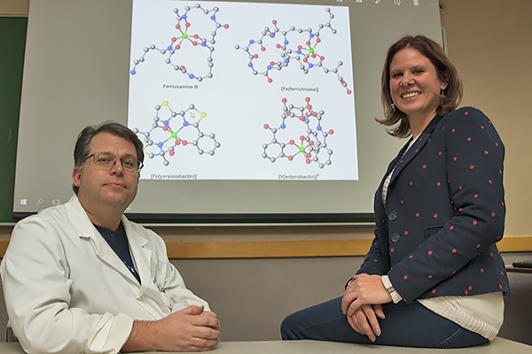 UNG assistant professors Clarke Miller and Livia Streit received a grant from the National Science Foundation for supercomputing time for researching bacteria strains.