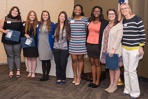 Several University of North Georgia female students were recognized for their leadership on all five campuses during the Women's Leadership Luncheon.