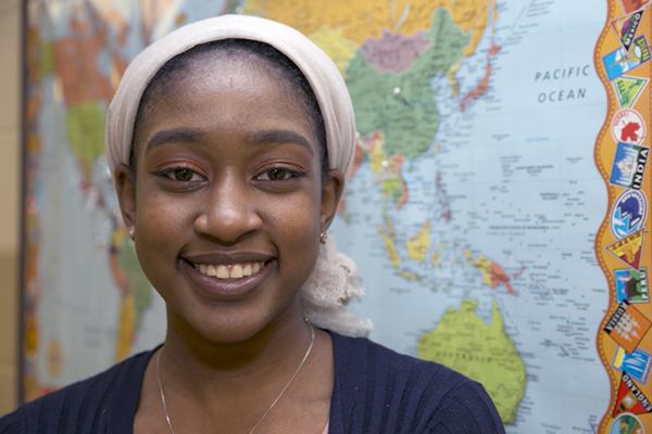 Ja'nae Jackson, 18, is the recipient of a $2,500 Diversity Global Engagement Travel Scholarship from the National Association for Diversity Officers in Higher Education.