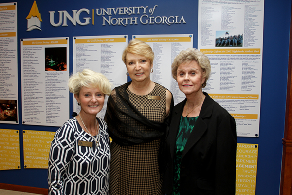 The Pilot Club of Oconee's contributions reached the $10,000 mark this year, earning it placement on the Donor's Wall on UNG's Gainesville Campus.