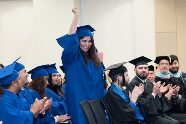 Hindalia Montano celebrates earning her General Educational Development certificate during the High School Equivalency Program's graduation ceremony Jan. 27 at University of North Georgia's Gainesville Campus. (Photo courtesy of Diana Bello Studio)