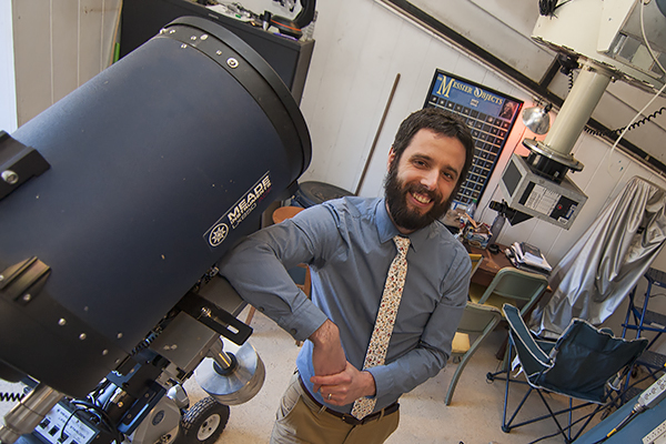 Dr. Gregory Feiden was awarded funding from NASA for a research grant proposal to study what goes on inside stars to produce properties that astronomers can measure.