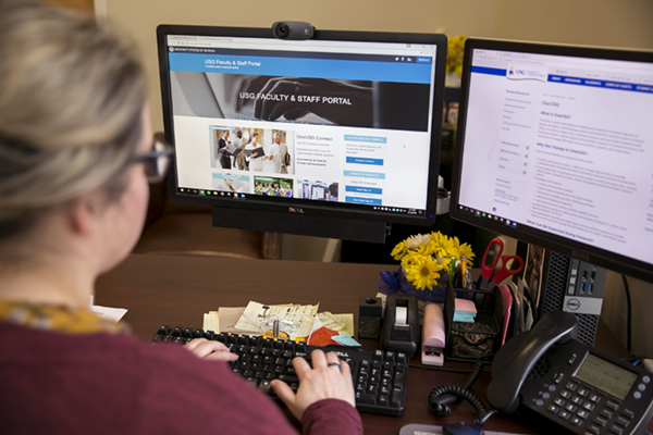 In March, University of North Georgia and 12 other USG schools will switch from their current human capital management platform known as ADP to the new system called OneUSG Connect. The new platform based on the software program PeopleSoft will be used for all time and absence management, payroll, human resources personnel functions, and faculty managed event information.