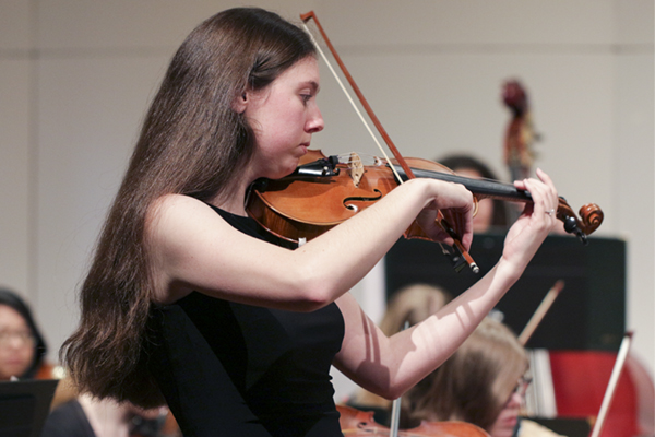 Lily Rainwater is the concertmaster and featured soloist in the upcoming University of North Georgia's Department of Music's annual orchestra concert. Rainwater is a senior majoring in chemistry from Dahlonega, Georgia.