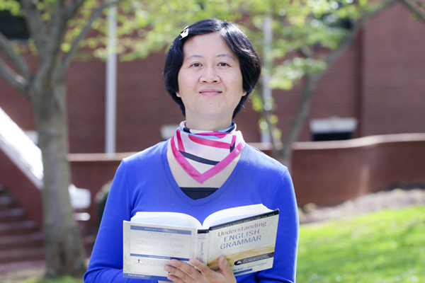 A visiting scholar from Zhejiang Normal University in Jinhua, China, Dr. Yanming Yu is teaching English grammar and researching the different teaching practices of English grammar between Chinese and American college students during her year-long stay at UNG.