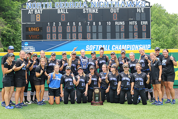For the first time since 2015, the No. 1 ranked University of North Georgia (UNG) softball team is headed to the NCAA Division II Softball Championship after beating Young Harris College, 2-1, on May 18, in the Southeast Super Regional at Haines & Carolyn Hill Stadium in Dahlonega, Georgia.