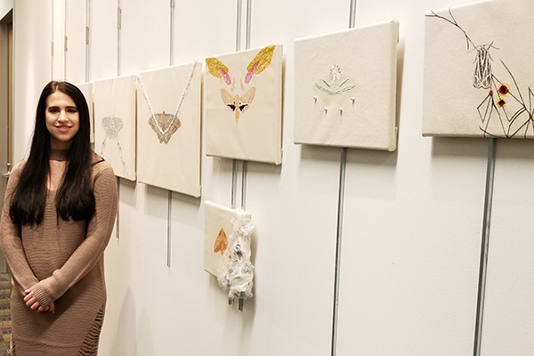 Ashley Blankenship, who graduated in December 2017 with a Bachelor of Science in art marketing, was named UNG Department of Visual Arts' Student of the Year honor.