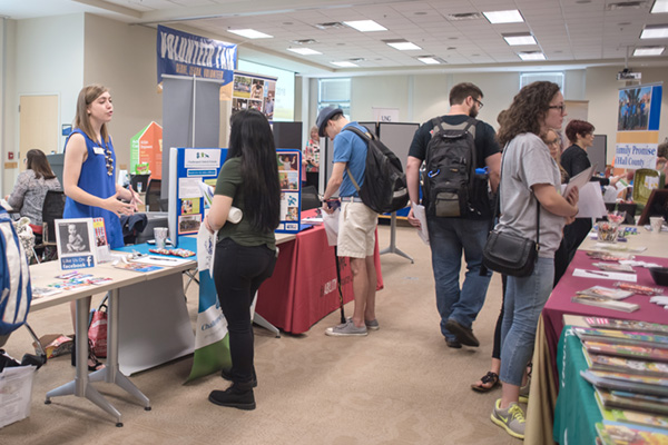 University of North Georgia students may find an organization that matches their passion at the annual Volunteer Fair. More than 30 community organizations will participate in the events on UNG's Gainesville and Oconee campuses.