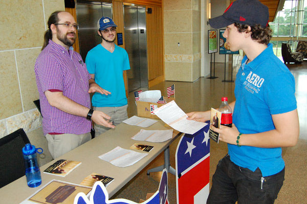 Student groups encouraging peers to register to vote